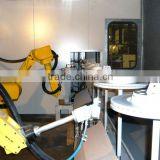 Robotic Car Brake Disk Coating line by Reciprocator and Painting Robot