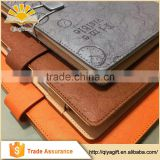 Custom Design PU Leather Notebook For School Embossed A3/A4/A5/A6 Event Planner Hot Stamping High Quality Diary