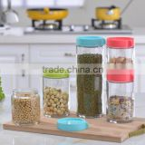 Plastic Storage Cereal Containers Transparent Sealed Tank Food Storage Cans Dumping of Dried Fruit Snacks