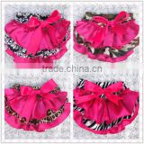New arrival cotton cute baby chiffon ruffle bloomer with bowknot, stain baby diaper cover for infant &Toddlers baby shorts