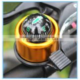 2016 Red Bicycle Safety Horn Handlebar ring bell with Compass bicycle bell