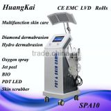 8 in 1 ultrasonic skin scrubber diamond peeling microdermabrasion machine for facial care