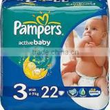 PAMPERS 22PCSActive Baby S3 Diappers FMCG hot offer