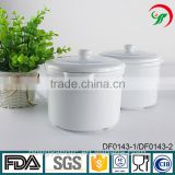 China factory wholesale plain white ceramic porcelain glazed stew pot, soup tureen with lid , serving cooking pot