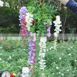 Top lovely artificial wisteria flower durable and beautiful plastic aromatic artificial flower vine vertica