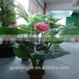 LXY081334 wedding decoration artificial begonia flower plant plastic shrubs evergreen bonsai