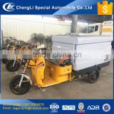 CLW new developed electric tricycle sidewalk flushing truck 3 wheel road cleaning truck with water pressure pump