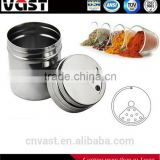 Hot sale with nice design stainless steel cruet /stainless steel spice jar/stainless steel spice jar set