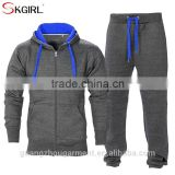 Men's gym contrast jogging full tracksuit heavyweight fleece hoodies and pants joggers suits sets