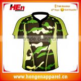 Hongen apparel OEM Sublimation top quality rugby polo t shirts /Rugby Jersey /Rugby clothing