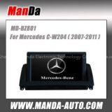 2 din car multimedia for Mercedes C-W204 (2007 2008 2009 2010 2011) car gps navigation bluetooth