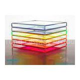 Nice Elegant Acrylic / Lucite / Plexiglass Divided Serving Tray , Acrylic Stacking Trays