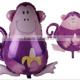 2014 New design monkey shape inflatable foil balloon/helium balloon