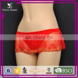 OEM Breathable Wholesale Transparent Sheer Lace Panties For Woman Underwear
