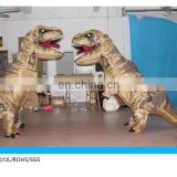 realistic dinosaur mascot costume/walking with dinosaur costume/inflatable dinosaur costume