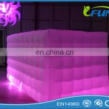 cube Inflatable decoration with LED light for sale/ inflatable LED decoration/cube Inflatable decoration