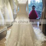 long sleeve high neck turkish muslim cheap wedding dresses made in china