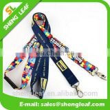Custom printed polyester sublimation neck lanyard with logo