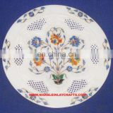 Carved Inlay Marble Plate