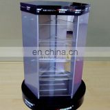 large acrylic modern spinning display showcases