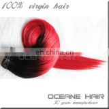 Hot sale !!! 8-36inch cheap fashion straight double drawn red tape hair extensions wholesale