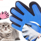 Silicone pet gloves cat dog go cleaning supplies comb hair remover brush True touch