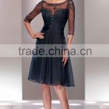 Beautiful Mother of the Bride Dress with Beading and Appliques High Quality Elegant Half Sleeve Mother of the Bride Dress