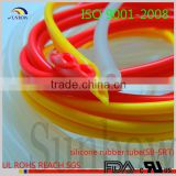 with iso 9001-2008 standard ul approval flame retardant red silicone tube for bracelets