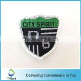 Machine Cut Embroidery Badge/Sticker/patch design woven label for clothings, bags, and garments