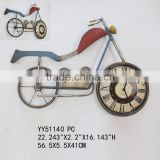 New design vintage bicycle metal table clock, wholesale cheap clock