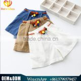 Summer Children's Clothes Denim Trousers 2016 New Arrival Shorts With Belt Infants & Toddler 3 Colors Clothing Shorts