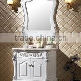 Factory direct hot selling floor mounted style with undercounter basin solid wood bathroom cabinet
