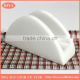 Eco-friendly china wholesale white ceramic porcelain hot napkin holder paper tissue box holder for restaurant