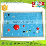 Wooden Puzzle Toys Puzzle Map of 9 Planets Baby Teaching aids Self-Assembly Toys for Kids