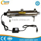 Shower filter water disinfection