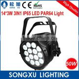 hot sale 14x3w rgb 3in1 led par dj club outdoor led stage light dj stage lighting system