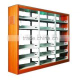 Practical steel office and library exhibition book shelf bookshelves fire-proof plate bookshelf