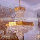 Hotel chandelier for sale modern gold lamparas colgantes