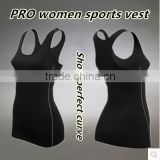 Women's Sports Fitness Training Tight Vest Perspiration Wicking Basketball Tanks Running Tops 5 Color S-2XL Free Shipping 2001