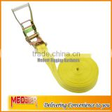 Easily tighten 2inch endless ratchet tie down/50mm endless ratchet straps with no hook polyester webbing strap