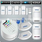 Factory sale new technology KERUI W2 wifi gsm hot wireless home security alarm system