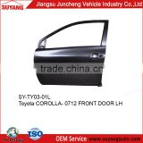 Replacement front door panel for Toyota Corolla 07-12 aftermarket auto spare parts accept OEM