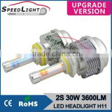 Speedlight Upgrade Version 30W 3600LM 2S H11 LED Headlight Conversion Kit
