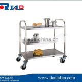 New 3 tier stainless steel kitchen dining trolley serving utility cart