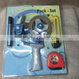Double blister tape gun combination suit, including tape, tape measure, shipping mark pen covered 5 times