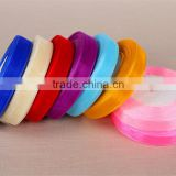 16mm 5/8inch colorful organza ribbon hair clip bows cap hat decorative card making Dance Costume Trimming