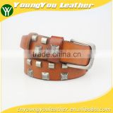 Fashion High Quality cow hide jeans belt for men with Alloy Buckles in Yiwu