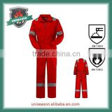 Cotton workwear fire resistant coverall with reflective tape