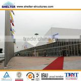 Anti-Fire Transparent ABS Solid Wall Event Exhibition Tent With Wooden Floor For Outdoor Usage