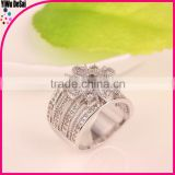 Christmas Gift plated sliver ring,Austrian Crystals Ring Nickle free Antiallergic Factory prices